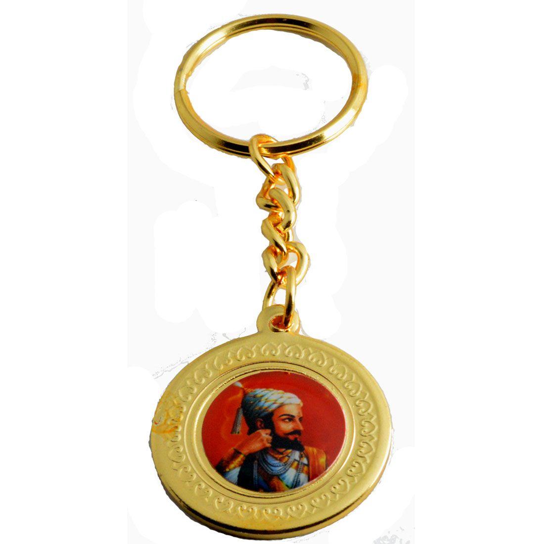 Faynci Honor and Proud of every Indian Raje Shivaji Maharaj with Rajmudra Key Chain for Gifting