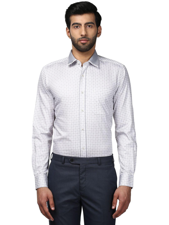 Raymond Purple Regular Fit Shirt