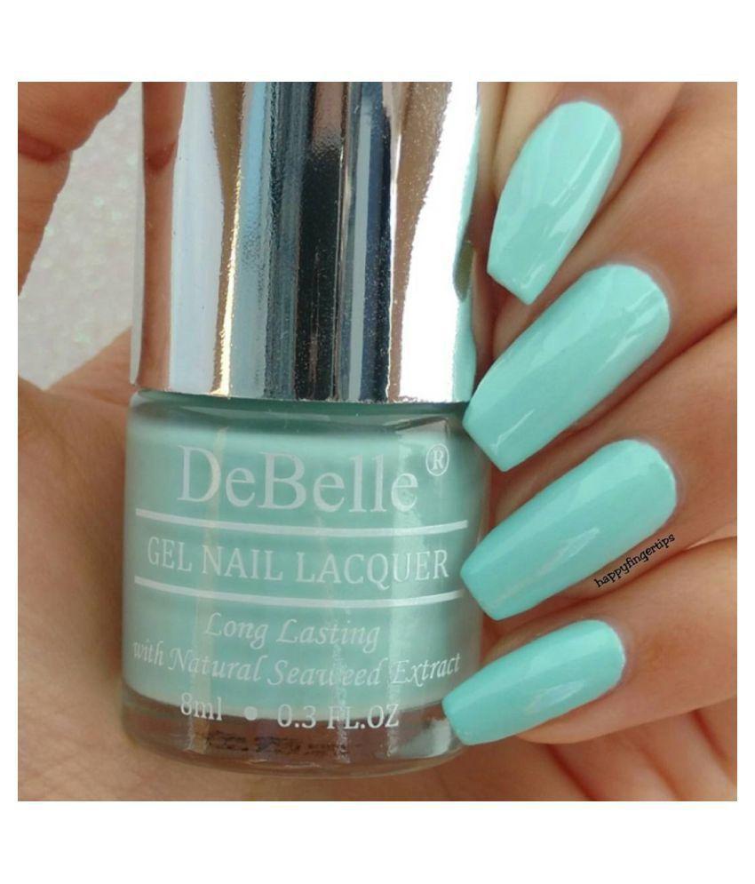 DeBelle Nail Polish Mint Blue Matte 8 ml: Buy DeBelle Nail Polish ...