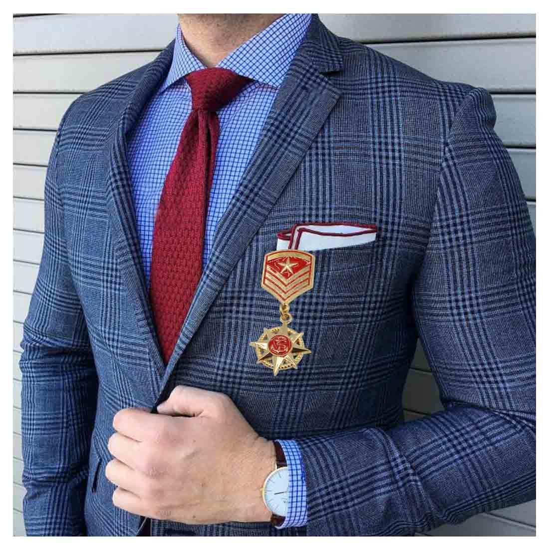 ... Sullery Party Gift Anchor Star Navy Medal Brooch Pin Badge Lapel Pin  Brooch For Men Women ...