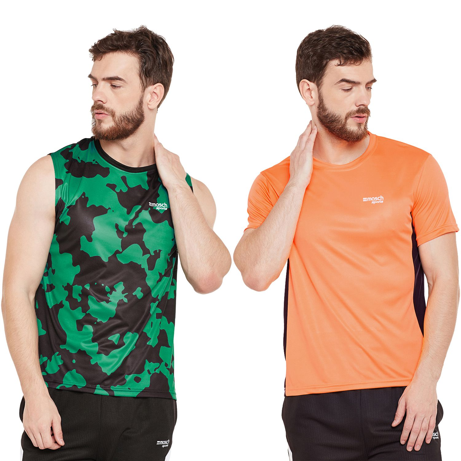 Masch Sports Multi Round T-Shirt Pack of 2