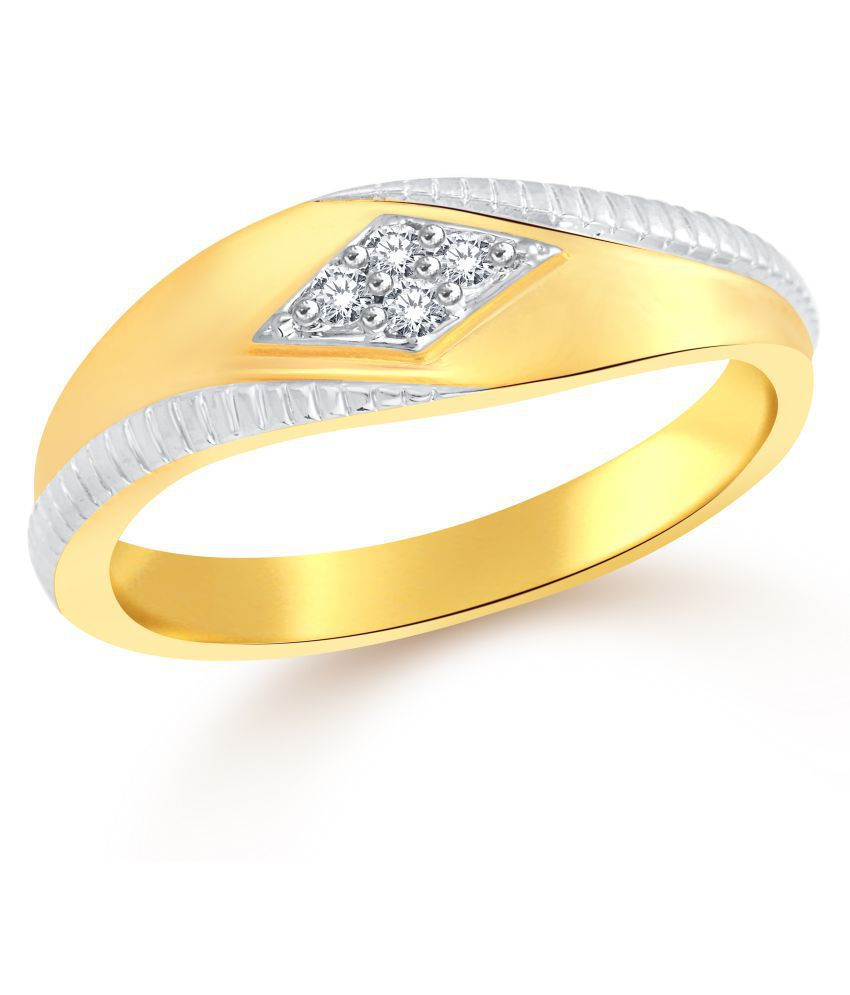 Classic Quest (CZ) Gold  Plated Ring for Men [CJ5002FRG18]