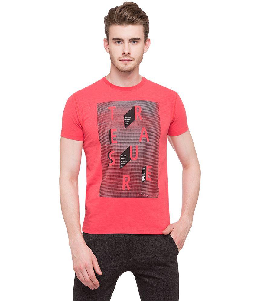 Status Quo Pink Round T-Shirt