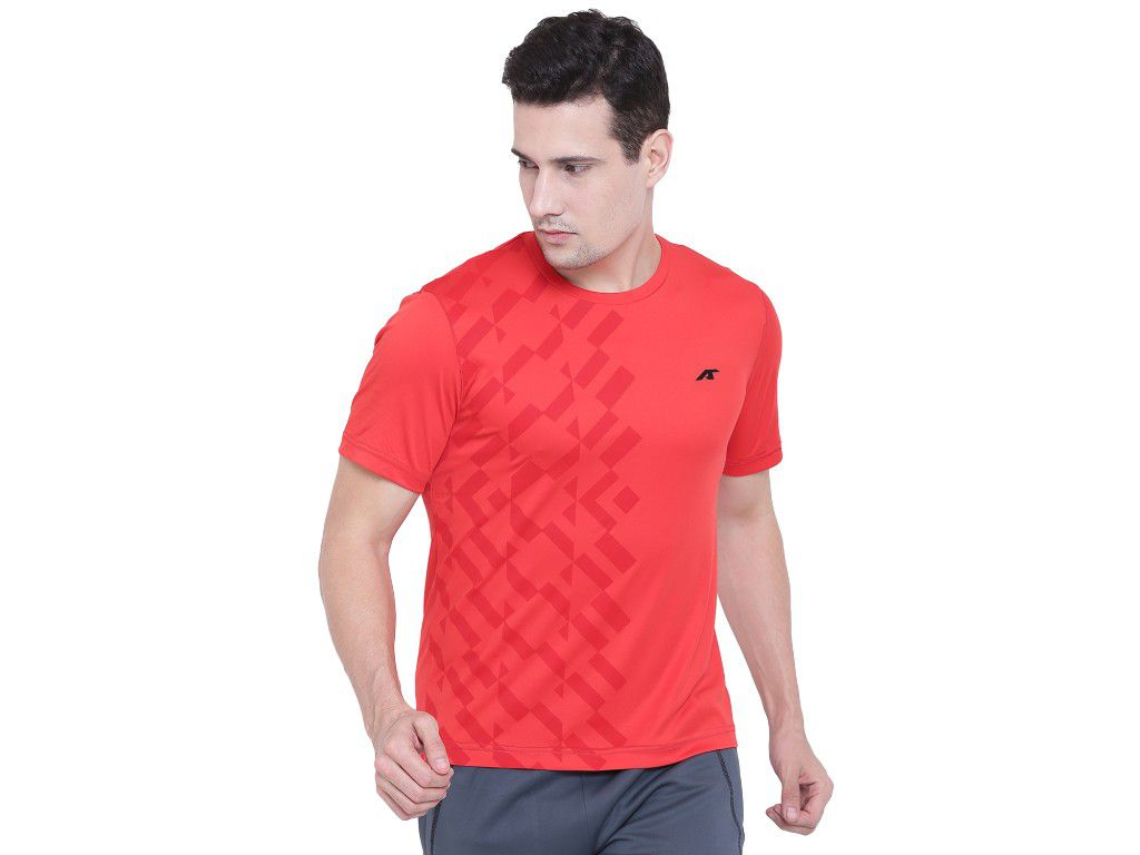 Alcis Mens Red Printed Tshirt