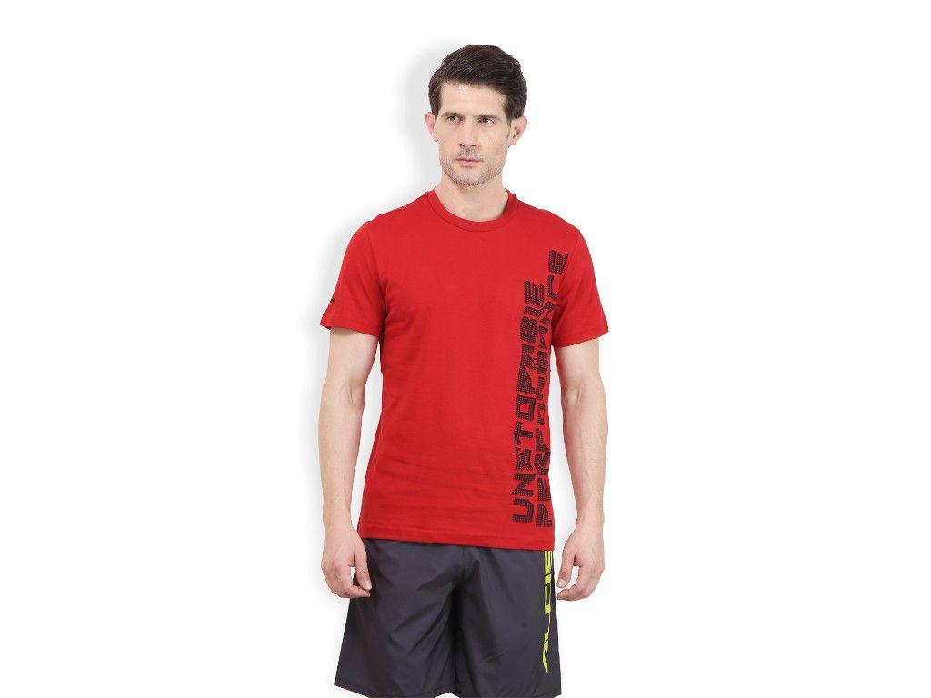 Alcis Mens Red Printed Tshirt