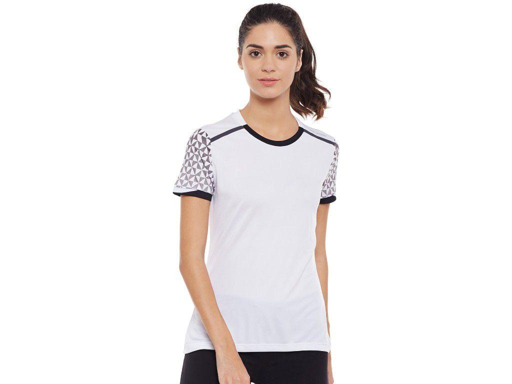 Alcis Womens White Printed Tshirt