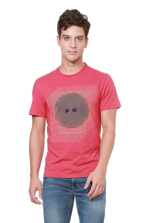 Peter England Pink Round T-Shirt