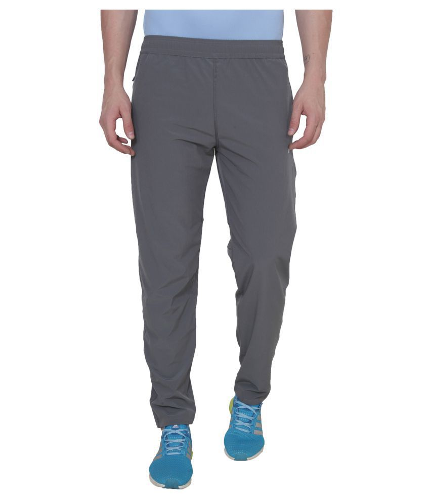 Nike Grey Polyester Lycra Trackpants