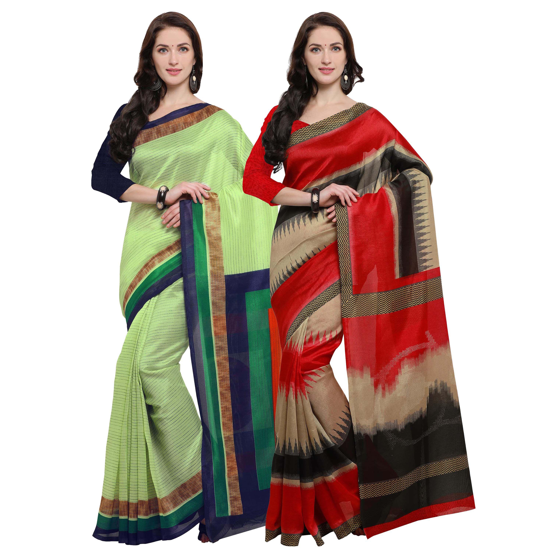 Rajnandini Multicoloured Jute Saree Combos