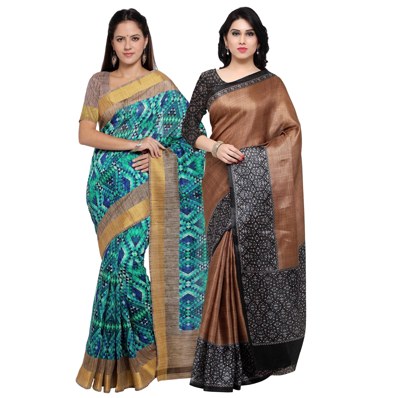 Rajnandini Multicoloured Tussar Silk Saree Combos