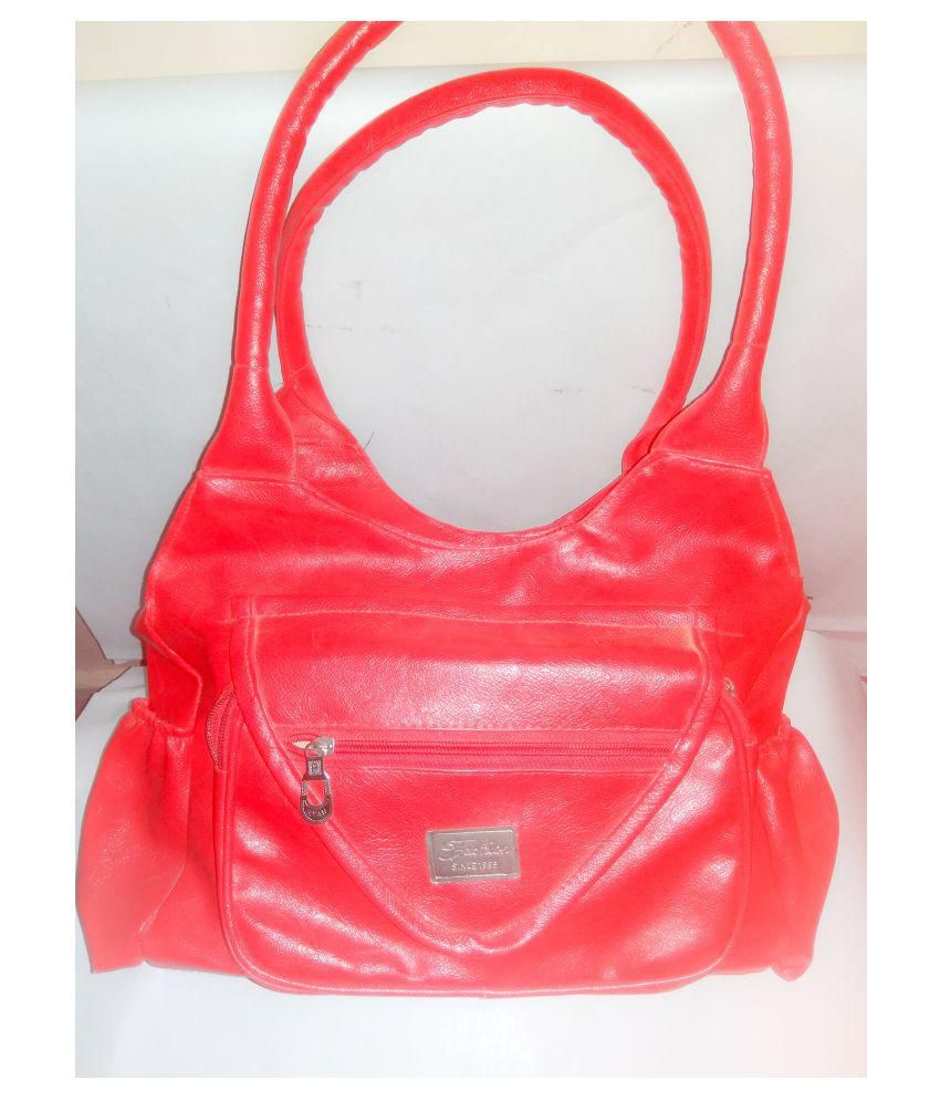 FASHION BAZAR Red Non Leather Handheld