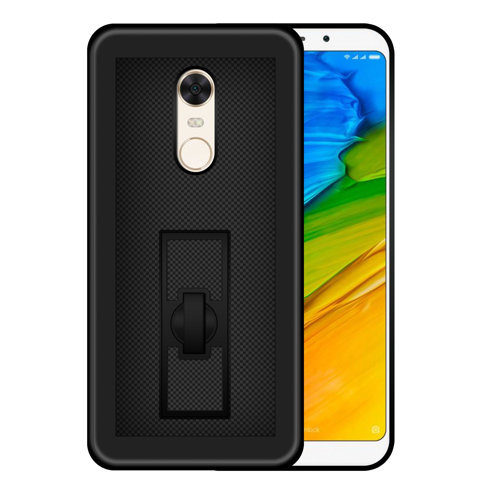Xiaomi Redmi 5 Plain Cases Hupshy Black