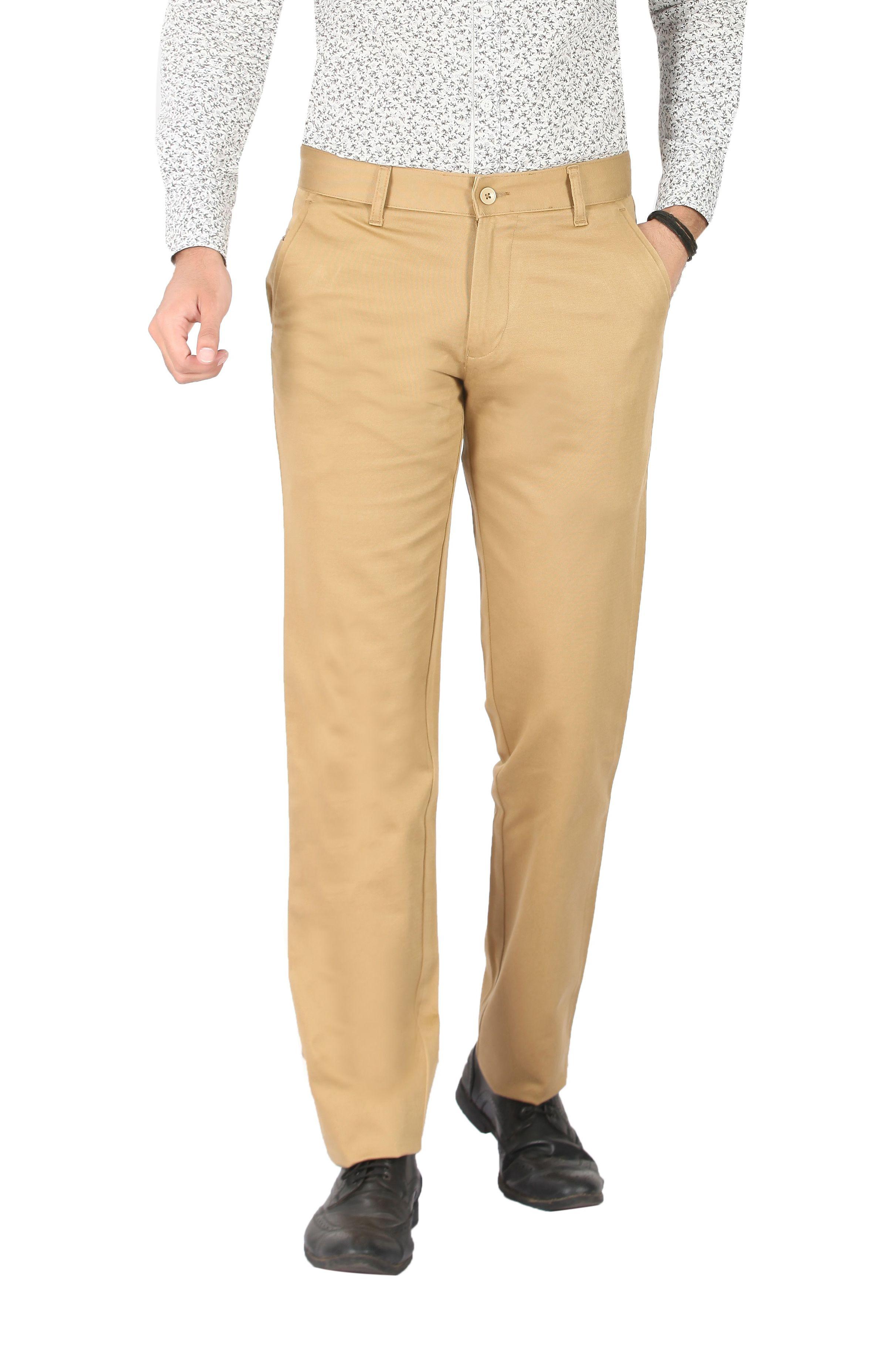 Pecos Bill Brown Slim -Fit Flat Trousers