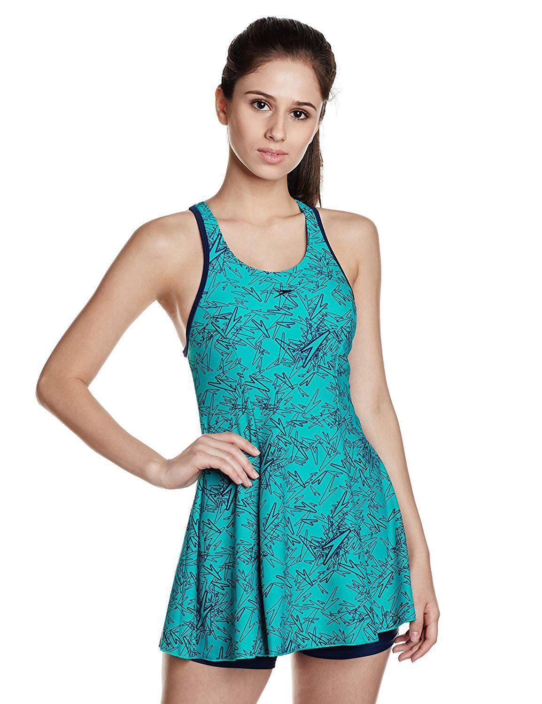 063f0d989c Speedo Female Swimwear All Over Print Racerback Swimdress With Boyleg: Buy  Online at Best Price on Snapdeal