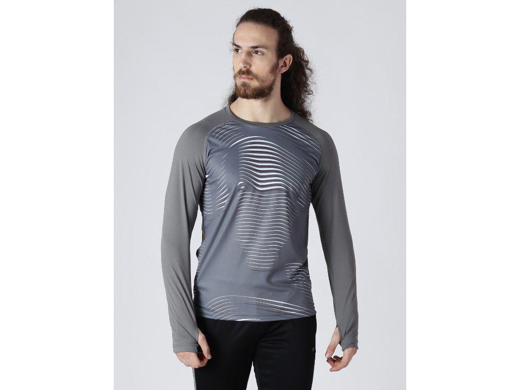 Alcis Mens Printed Grey T-Shirt