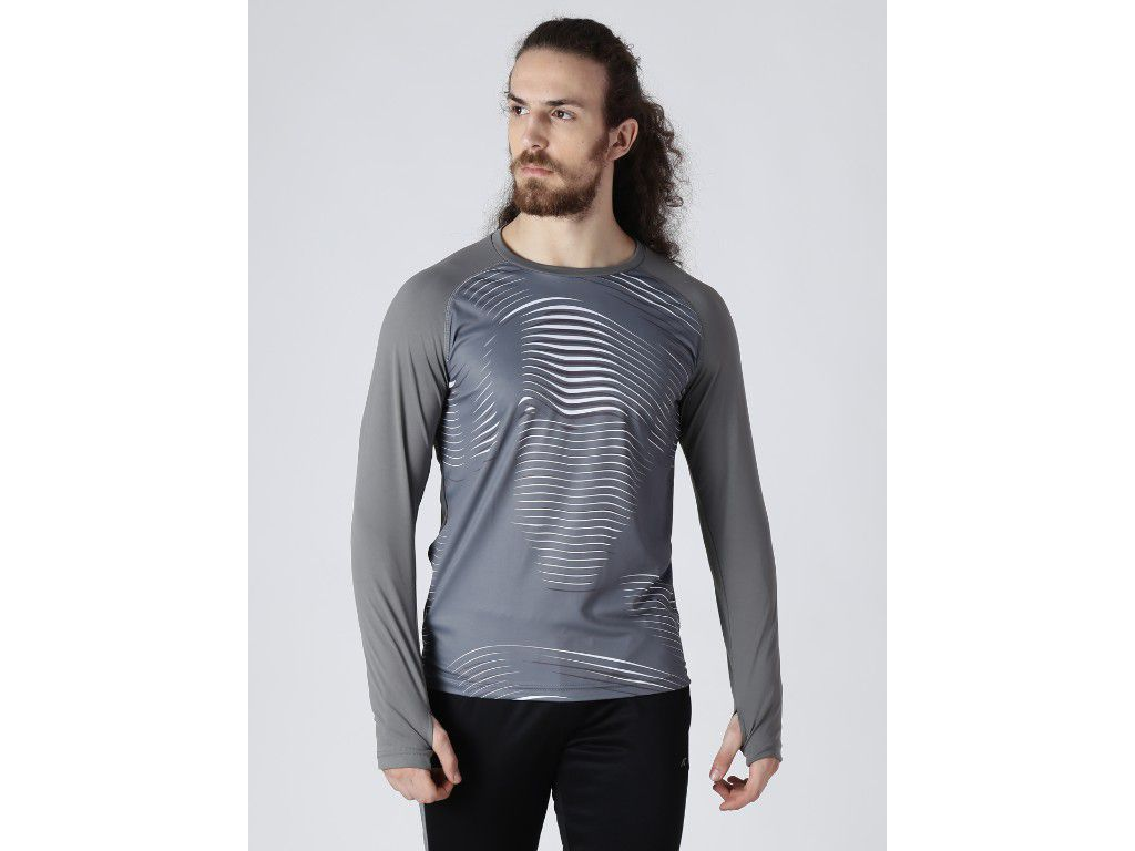 Alcis Mens Printed Grey T-Shirt