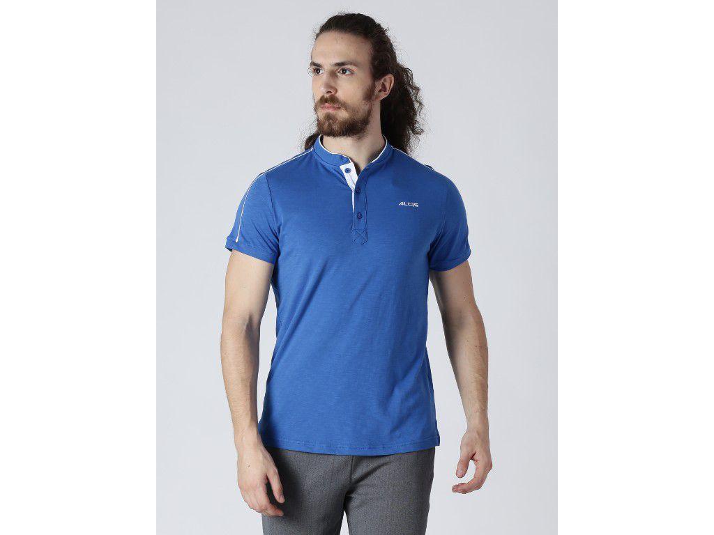 Alcis Mens Solid Blue T-Shirt