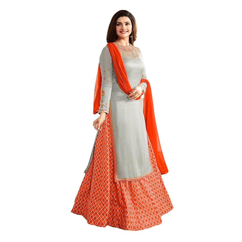 6b02e3c83a84d New Designer Gray nd Orange Lehenga Suit For Party Wear All Girls   Womens  - Buy New Designer Gray nd Orange Lehenga Suit For Party Wear All Girls    Womens ...