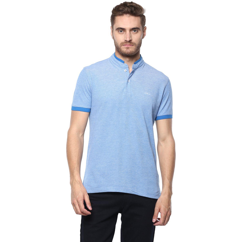 Octave Blue High Neck T-Shirt