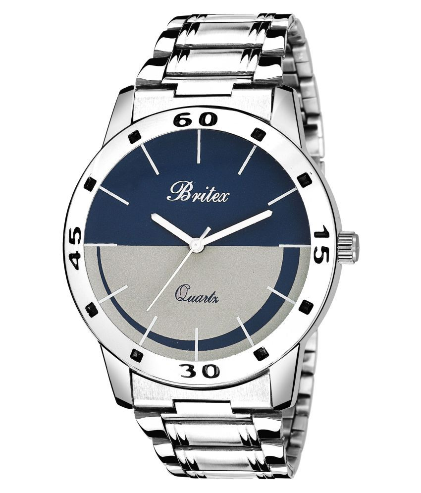 Britex BT6173 Be Happy Just Smile Multicolor Free Size Metal Strap Analog Watch for Men/Boys
