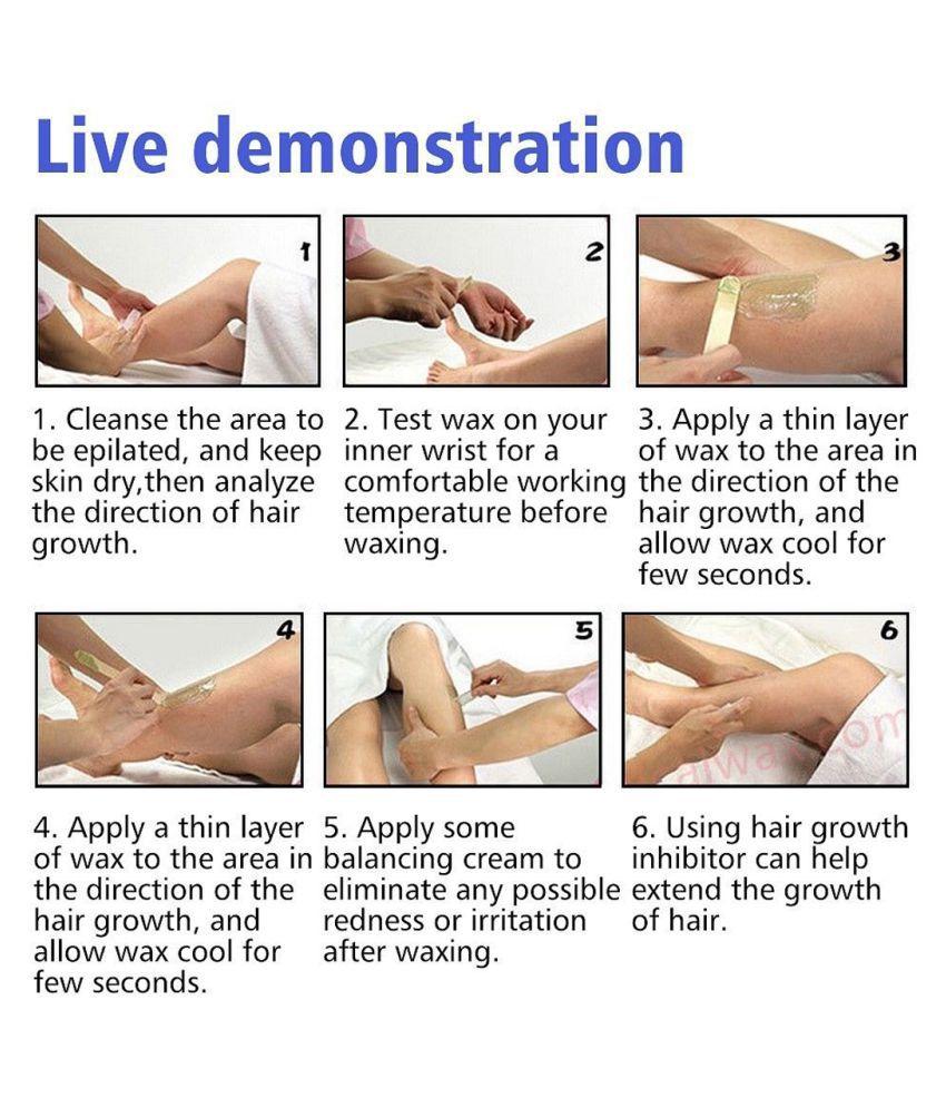 Bikini hair removal waxing