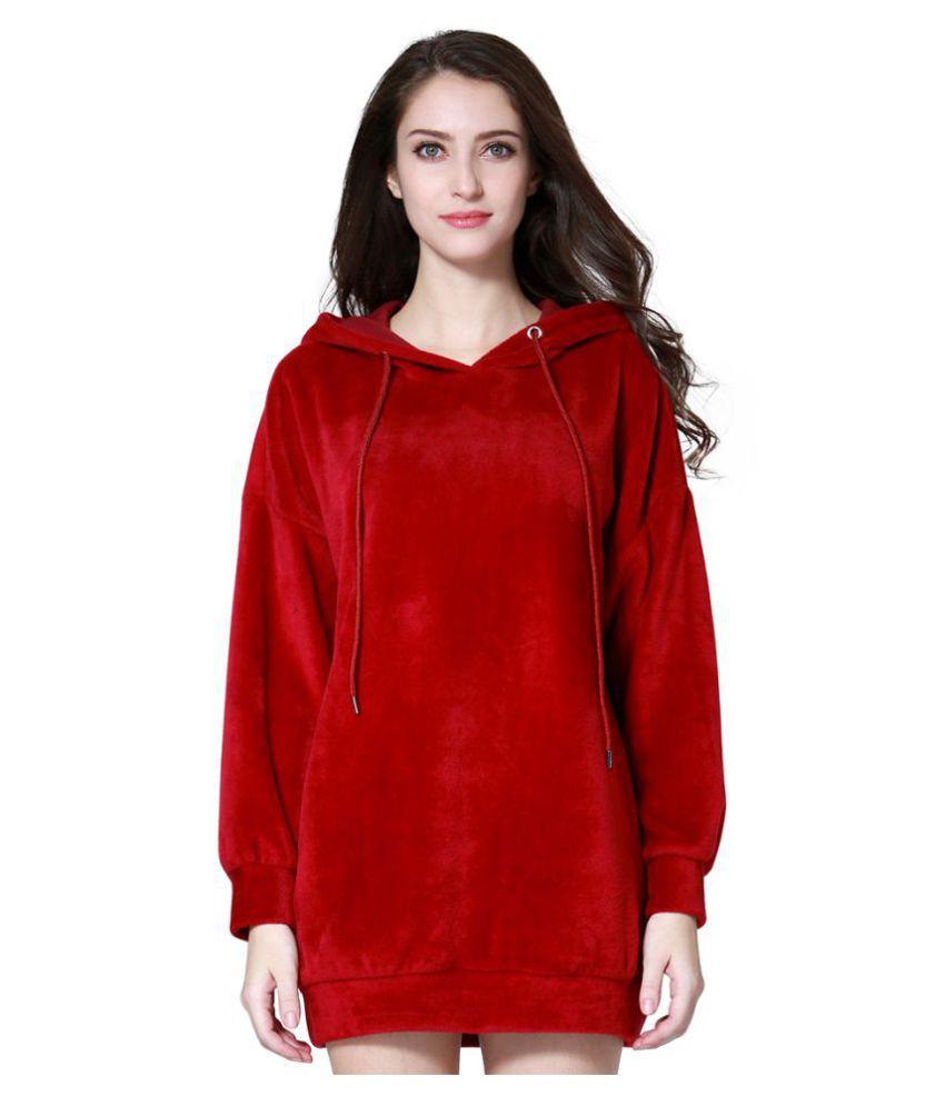 London Rag Poly Cotton Red Hooded Sweatshirt