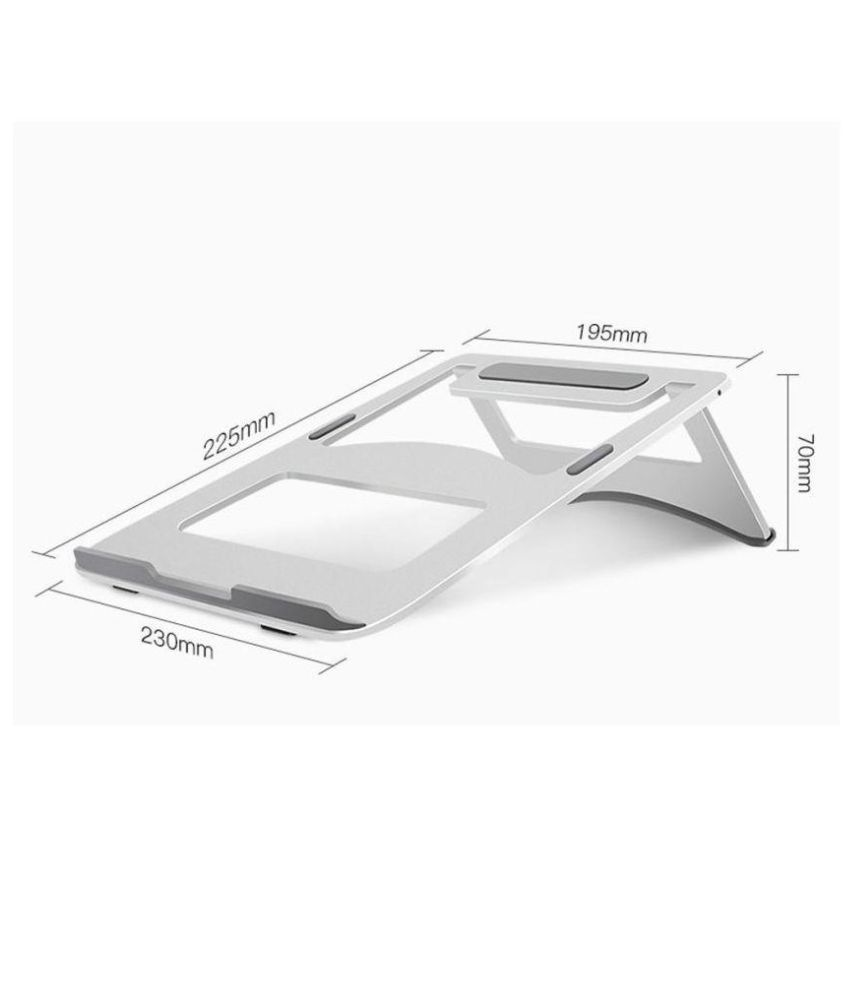 urban kings Laptop Table For Upto 48.26 cm (19) Silver Anti slip. Compatible with all sizes