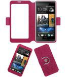 HTC Desire 600c Flip Cover by ACM - Pink