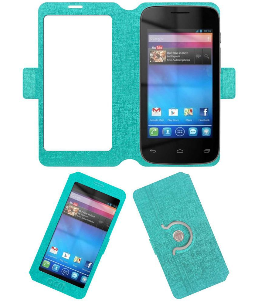 Idea Id 4000 3g Flip Cover by ACM - Blue