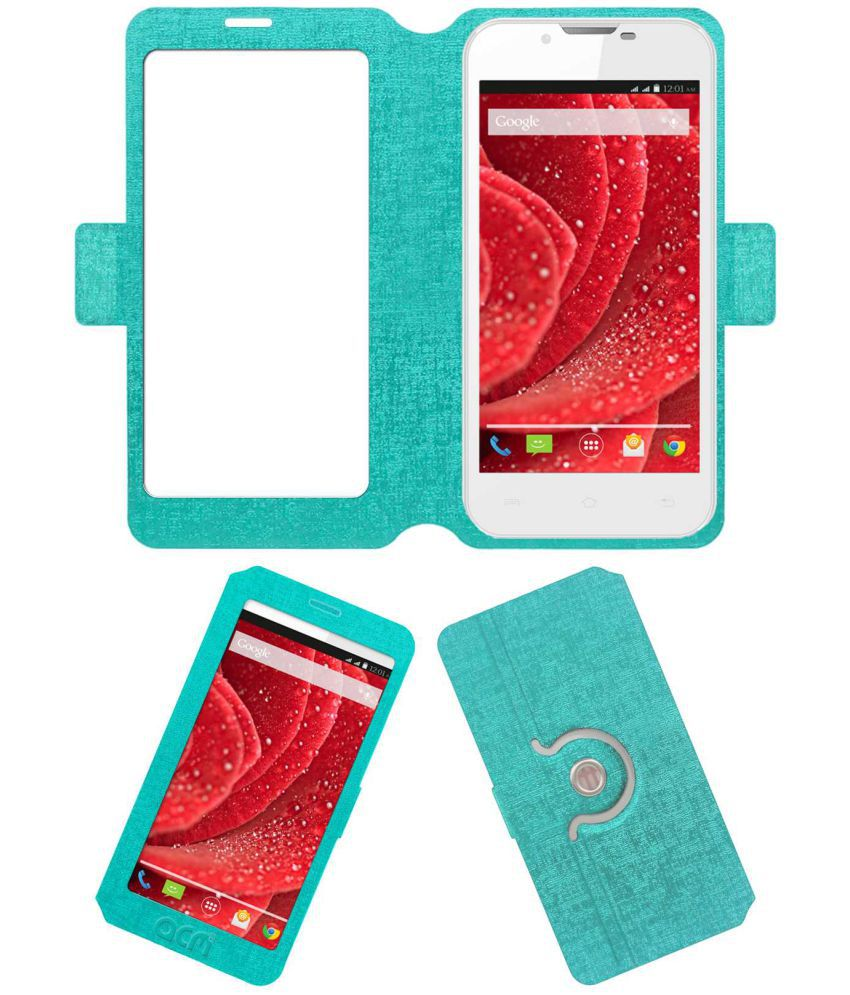 Lava Iris 500 Flip Cover by ACM - Blue