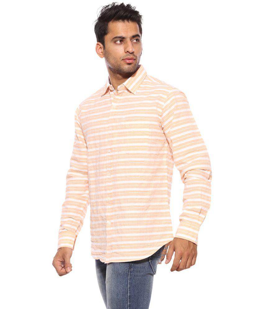 429b52a2fde SUMMER LINE Orange Regular Fit Shirt SUMMER LINE Orange Regular Fit Shirt  ...