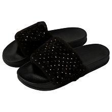 Falcon18 Black Slippers