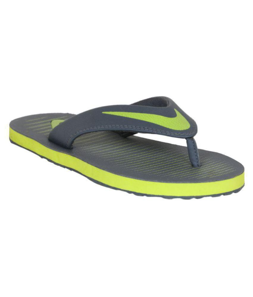 371fe3de6f50f Nike Chroma 5 Green Daily Slippers Price in India- Buy Nike Chroma 5 Green Daily  Slippers Online at Snapdeal