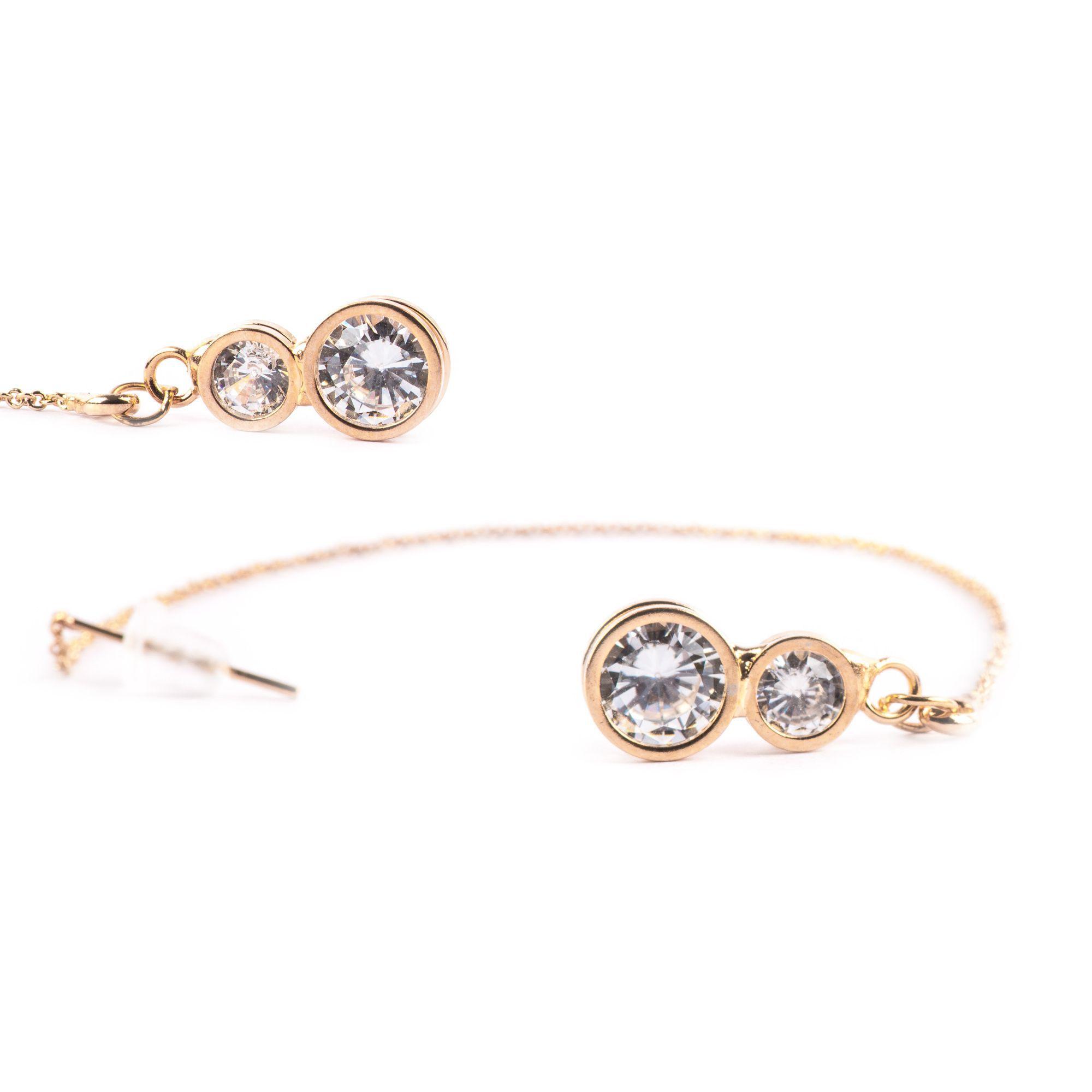 ayesha metallic gold chain round gold frame white crystal dangle ...