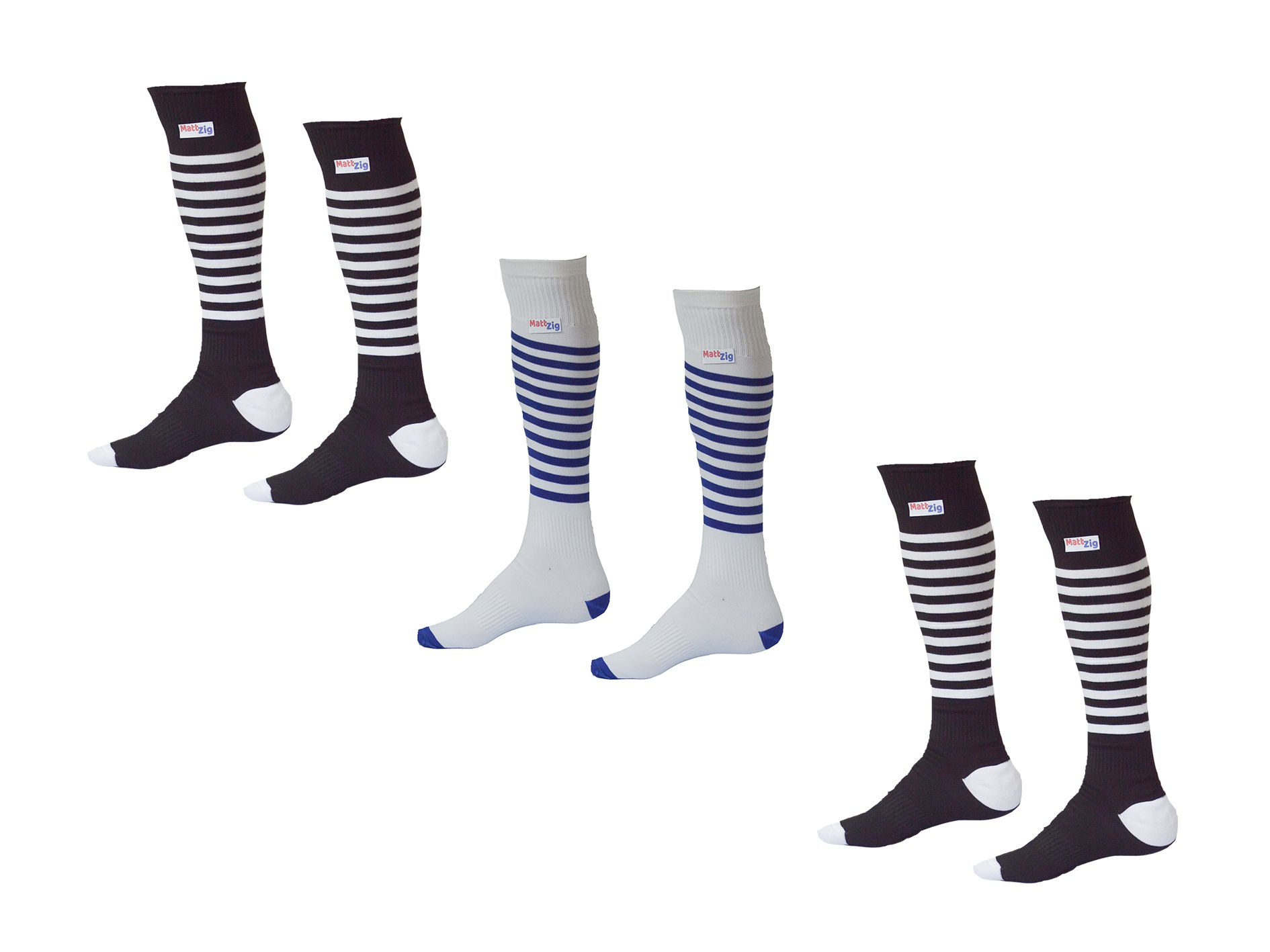 062e7464a2f MattZig Knee Length Lycra Football Socks (3 Pairs)  Buy Online at Best Price  on Snapdeal