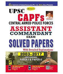 UPSC Central Armed Police Force Assistant Commandant Exam Solved Papers English