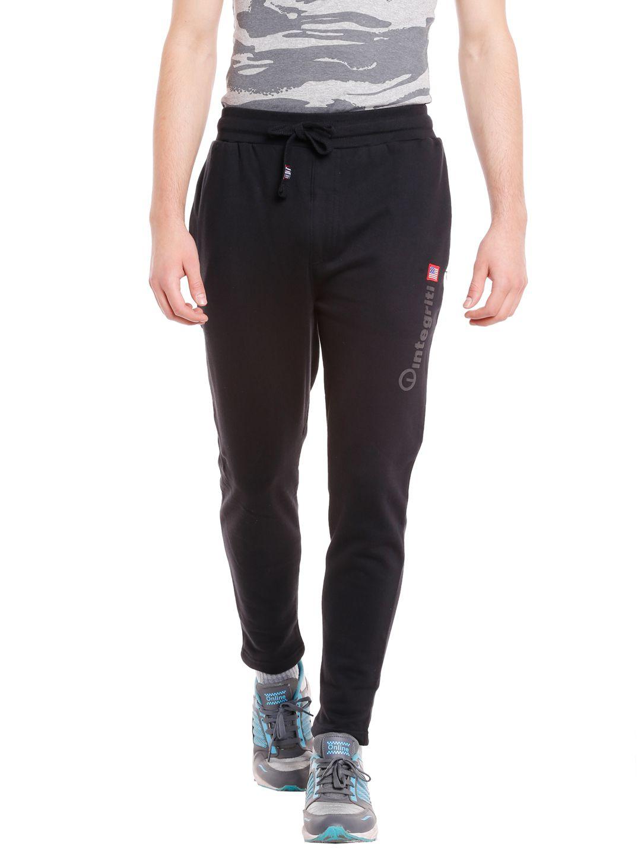 INTEGRITI Black Cotton Trackpants