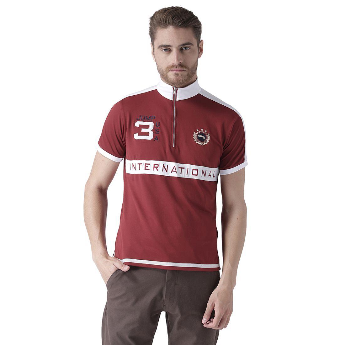 JUMP USA Red High Neck T-Shirt