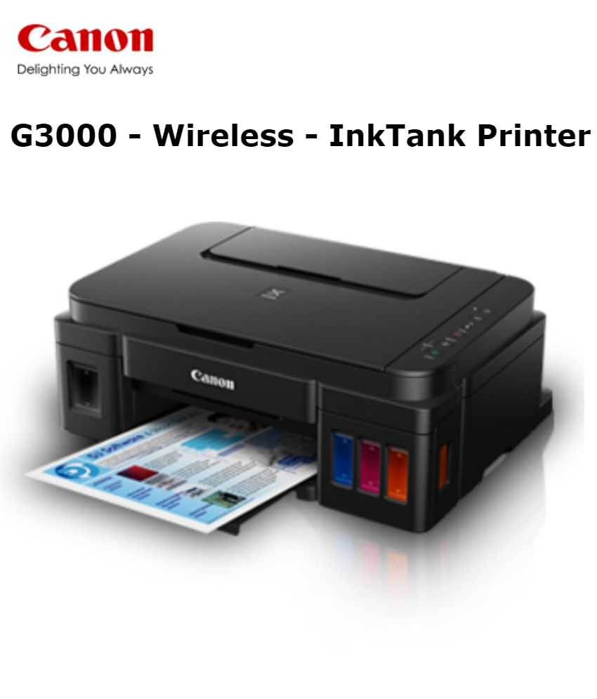 Canon PIXMA G3000 Multi function (Print,Scan,Copy) All in One Colour Ink tank Printer