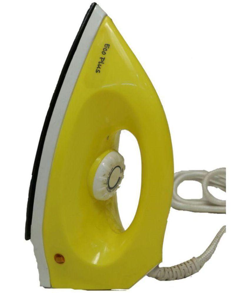 Ecoplus Crexmax Yellow Light Weight Iron Dry Iron White