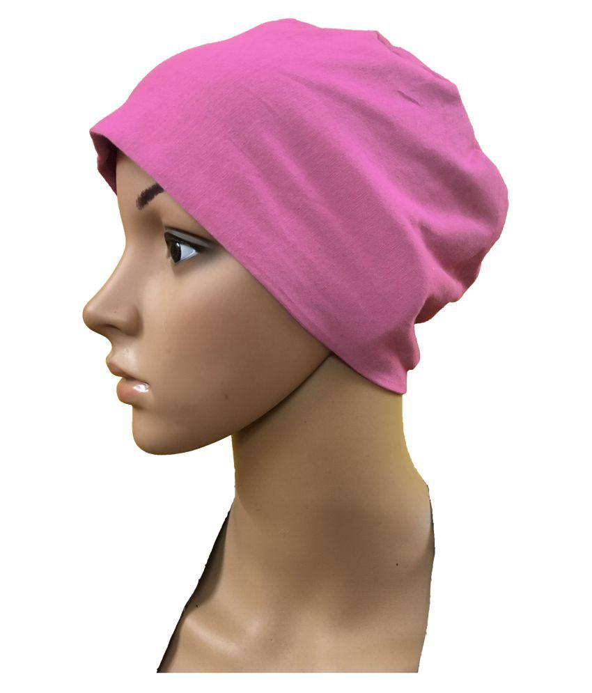 dba8a50eecc21 ... PINK CHEMO BEANIES CANCER CAPS WOMEN SUMMER CHEMO CAPS SLEEP TURBAN FOR WOMEN  UNDERSCARF CAPS UNDER