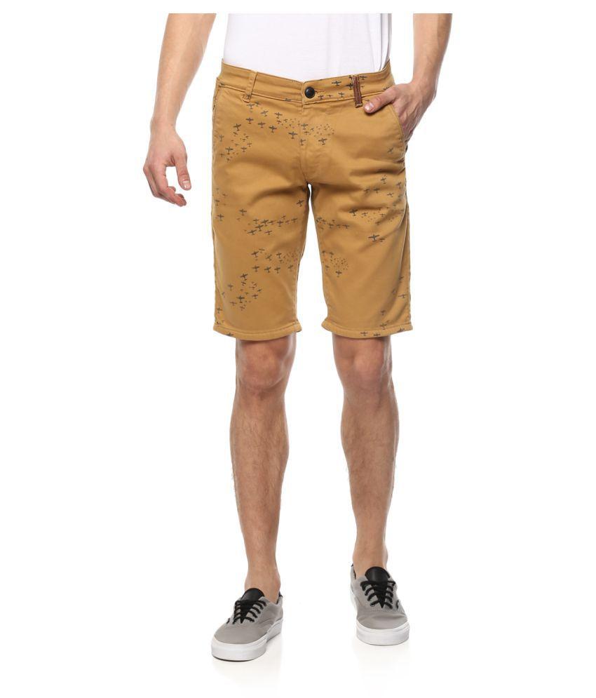 Spykar Beige Shorts