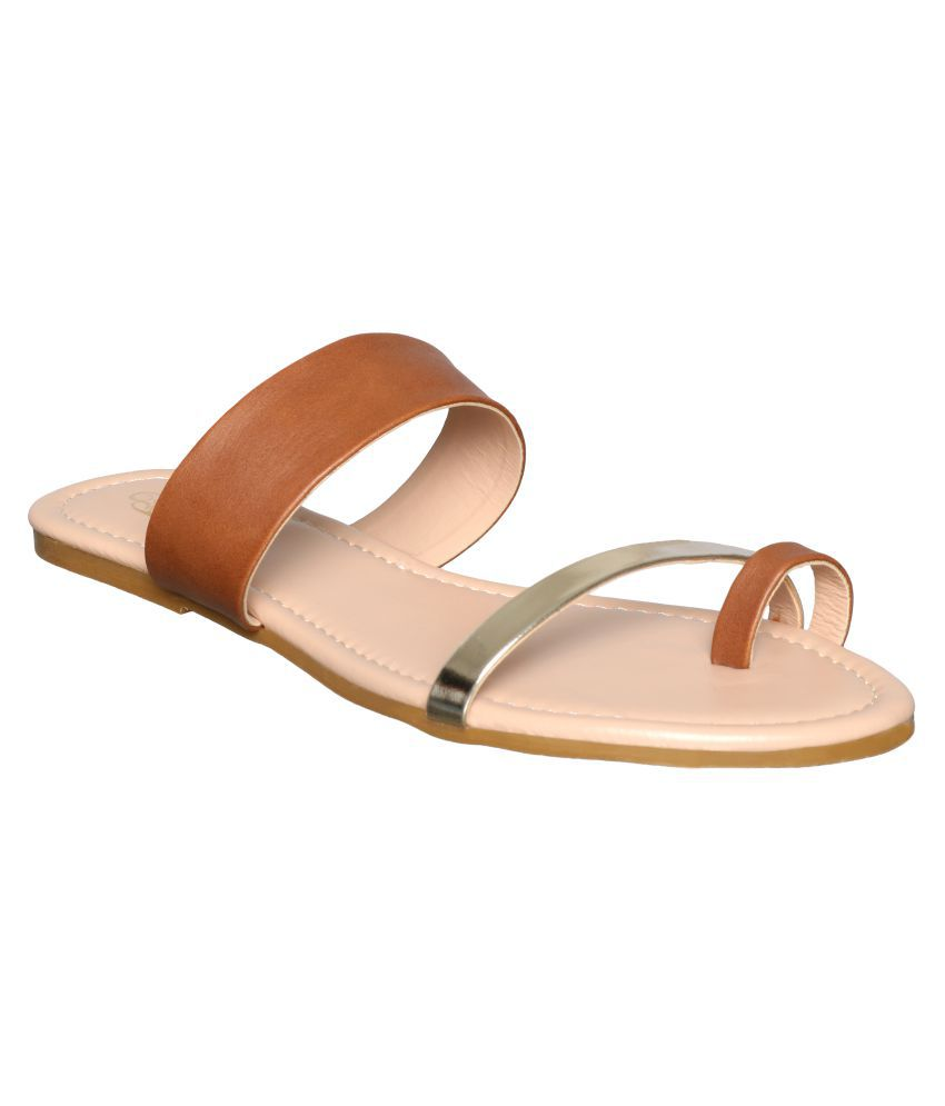 Flora Tan Slippers
