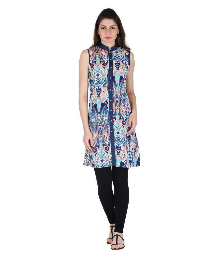 Vaijyanti Multicoloured Cotton Shirt style Kurti
