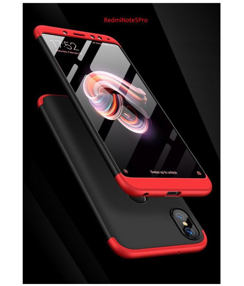 lowest price 650f3 67688 Xiaomi Redmi Note 5 Pro Shock Proof Case JMA - Red Original Gkk 360°  Protection Slim Case