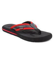 FUEL Men's & Boy's Stylish Flip Flops Black Thong Flip Flop