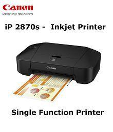 Canon iP2870S Single Function Color Printer