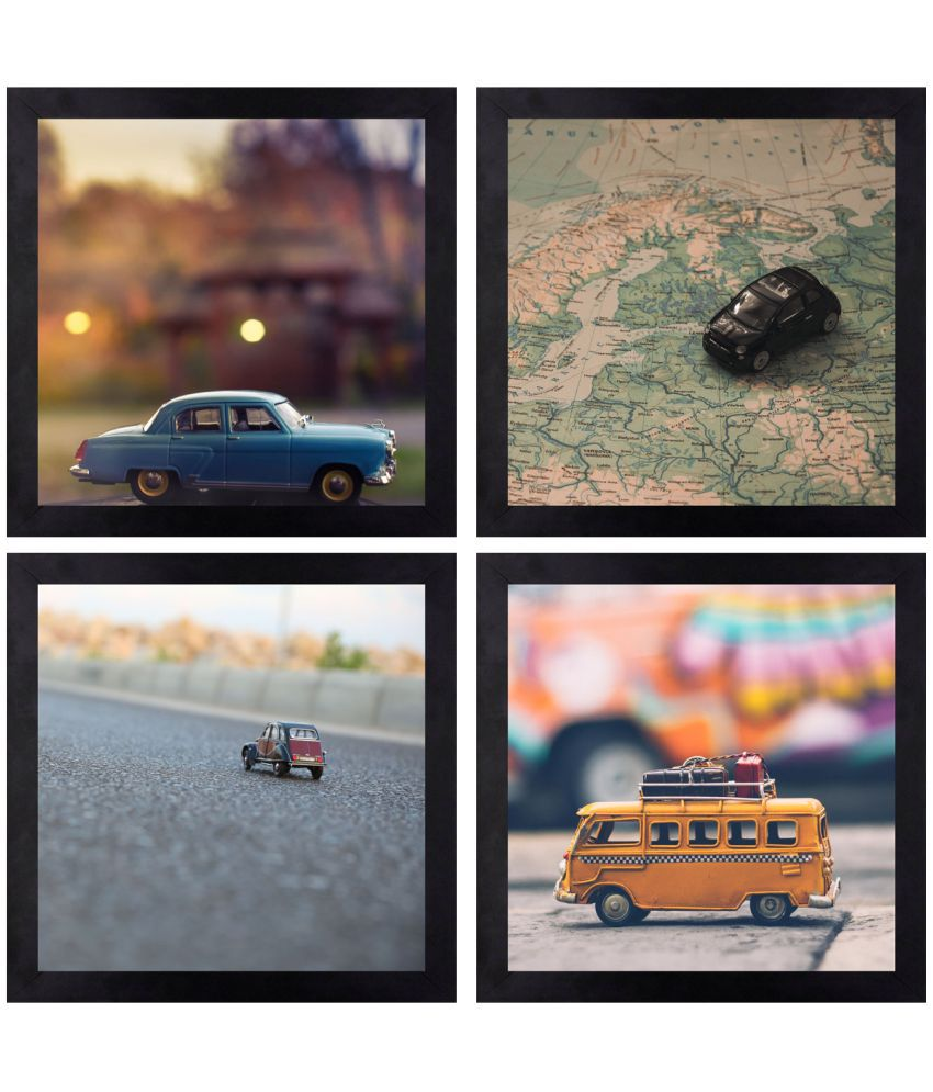 CRAFTSFEST BEAUTIFULL VINTAGE MOTOR DIGITAL REPRINT CANVAS PAINTING Canvas Painting With Frame