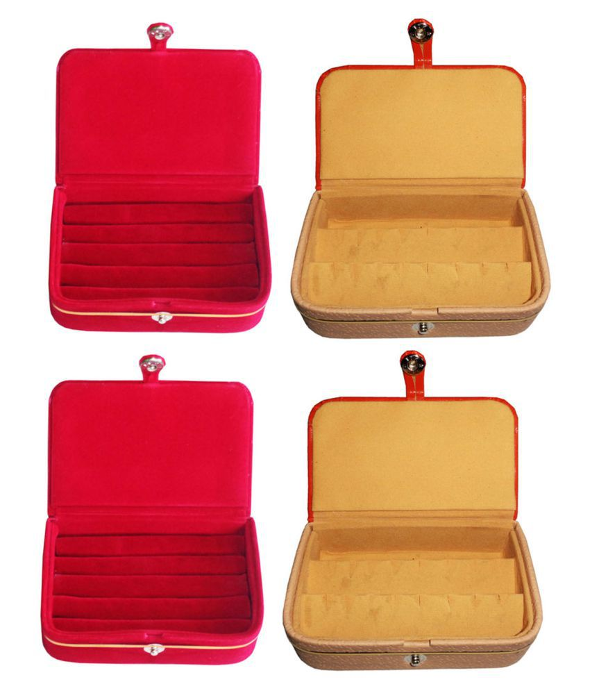 Sarohi Combo of 2 pcs earEar ring folder and 2 pcs Ear ring jewelry box