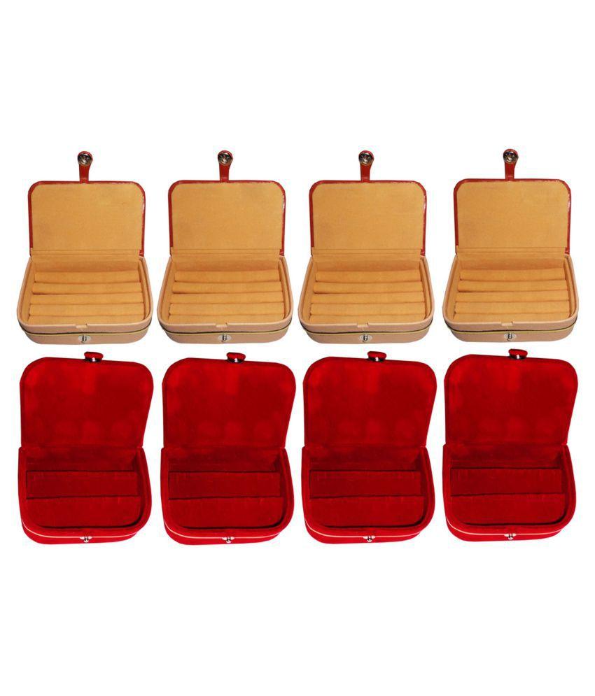 Sarohi Combo of 4 pcs earEar ring folder and 4 pcs Ear ring jewelry box
